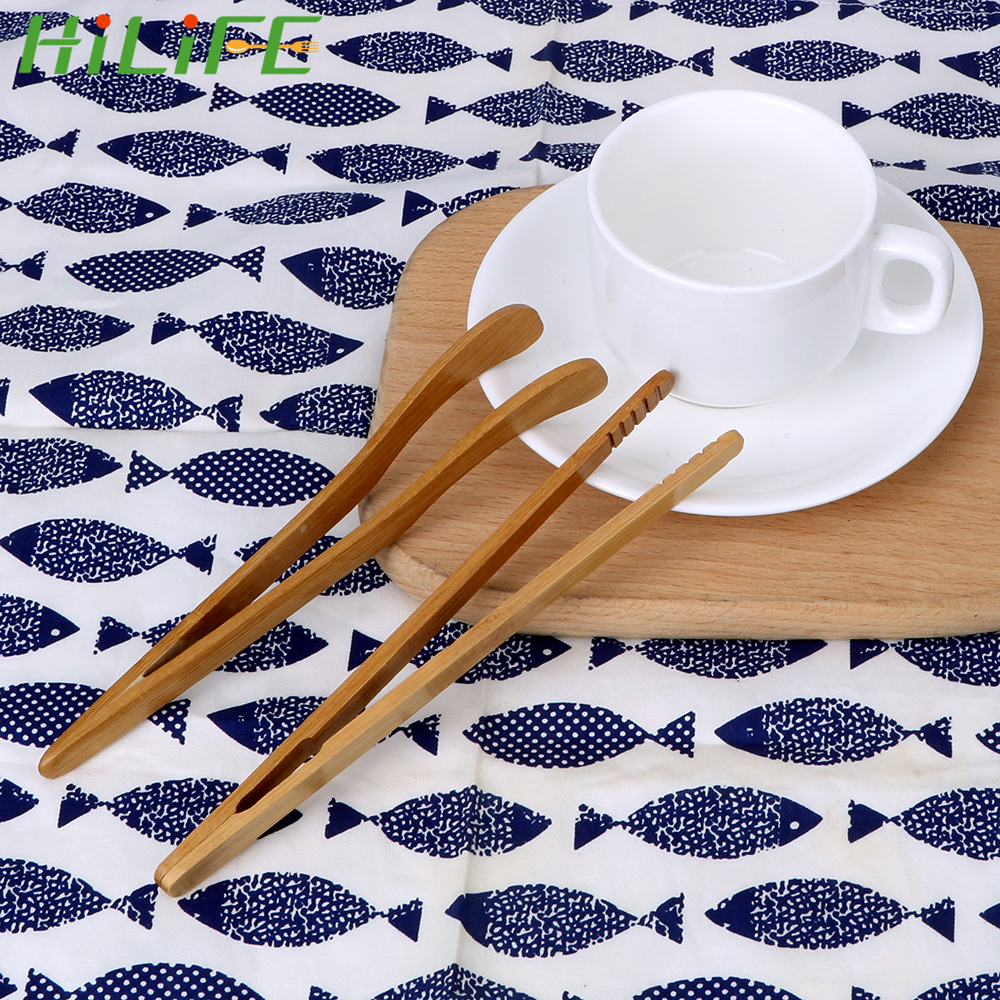 HILIFE Tongs Holder Teacup Clamp Bamboo Clip Handmade Kung Fu Tea Sets Tea Tweezer Natural Bamboo Anti-hot Tea Clip