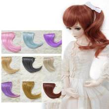 BJD Wig for 1/3 1/4 High Temperature Fiber Girl And Boy bangs short and long hair for Dolls(China)