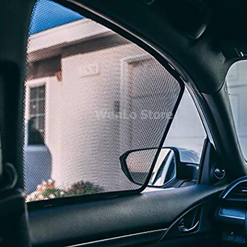 2 pcs 2 Pcs Magnetic Car Front Side Window Sunshade For Subaru Superb Spaceback Yeti Kodiaq UV Sun Shade For Car Window Blind (4)