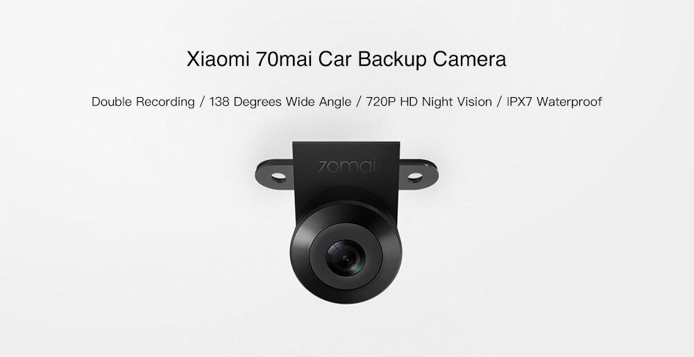 Оригинальная Автомобильная резервная камера Xiaomi 70mai 720P с ночным видением IPX7 Водонепроницаемая двойная запись 138 градусов широкоугольная ка...
