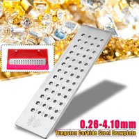 Tungsten Carbide Steel Drawplates 52 Round Holes 0.26 4.10mm Wiring Draw Plate 20x5.5x0.5cm Jewelry Tools & Equipments