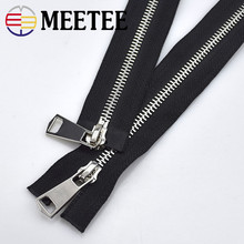 2pcs Meetee 60cm high quality metal zipper double open DIY sewing Craft garment decoration overcoat Jacket zippers A4-9