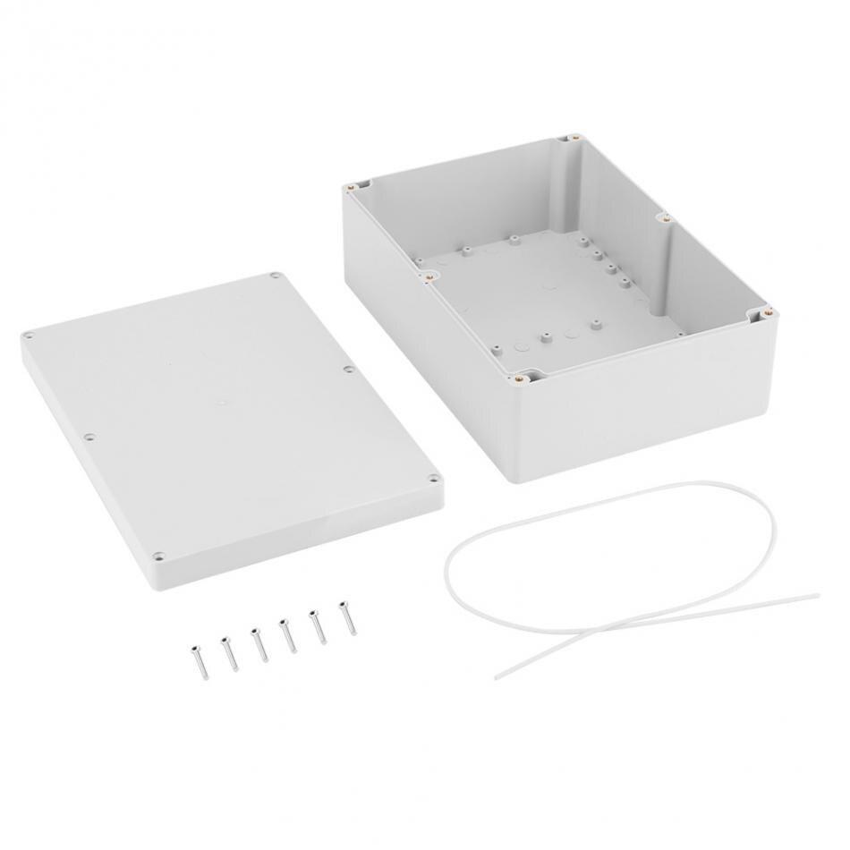 263*185*95mm Blanc résistant à L'eau En Plastique Boîtier Projet Cas BRICOLAGE Boîte de Jonction