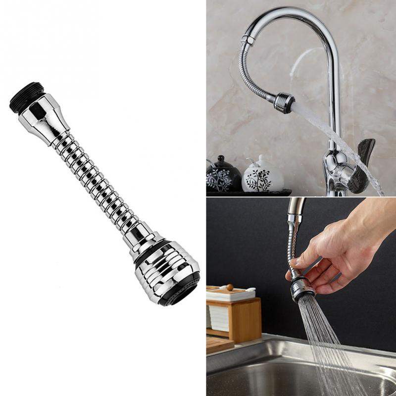 Faucet Splash Nozzle ABS Plastic Faucet Splash Nozzle Rotatable Water-saving Shower Bath  Filter Devices Two Water-outlet M