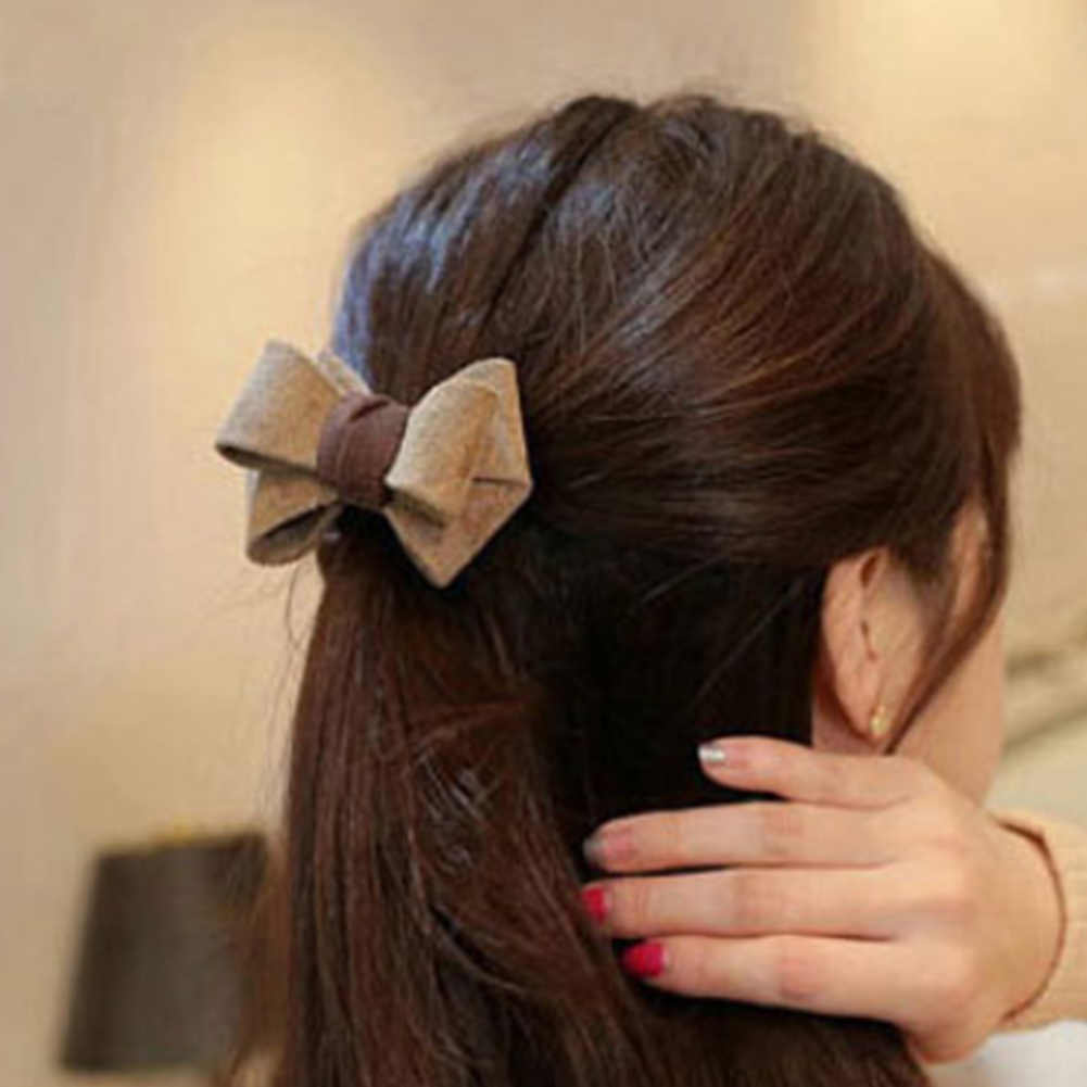 New Arrival Retro Classic Print Bow Knot Elastic Hair Band Hair Accessories Rubber Gum Hair Holder Scrunchy For Women Girls