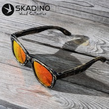 SKADINO Bamboo Full Wood UV400 Polarized Sunglasses Fashion Sun Glasses