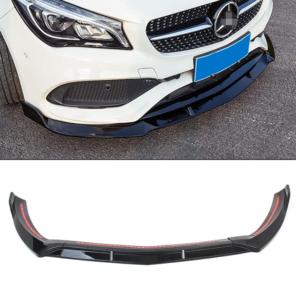 Накладка на передний бампер автомобиля для Benz General Model CLA 250 CLA200 CLA180 W117 2018 + универсальная версия глянцевый черный