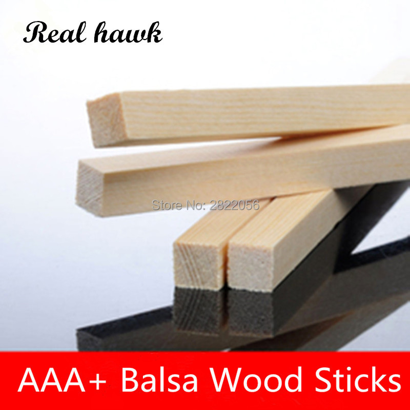 200mm Long 1.5x1.5/2x2/2.5x2.5/3x3/4x4/5x5/6x6/7x7mm Square Wooden Bar AAA+ Balsa Wood Sticks Strips For Airplane/boat Model DIY
