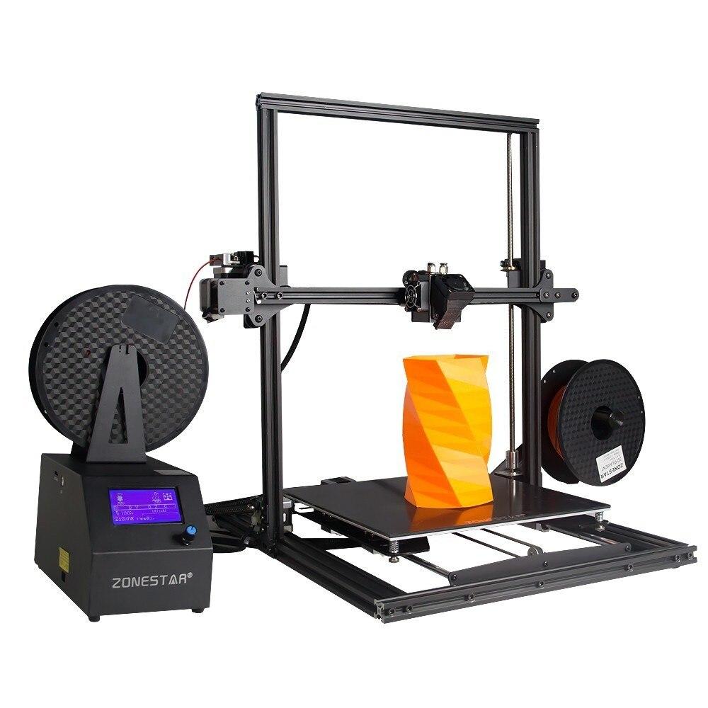 ZONESTAR nouvelle grande taille double extrudeuse mélange automatique couleur Super base assemblage rapide imprimante 3D kit de bricolage mis à niveau CR-10