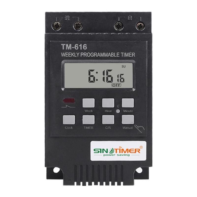 Werkzeuge Timer Tm616 7 Tag Programmierbare Digital Timer Schalter Relais Control Mikrocomputer Timer Controller Messung Instrumente Bequem Und Einfach Zu Tragen