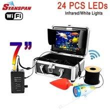 SYANSPAN 7 ''беспроводной WiFi подводный глубина рыболокатор видео камера для Android/IOS IP68 HD 1000TVL 24 белых светодиодов