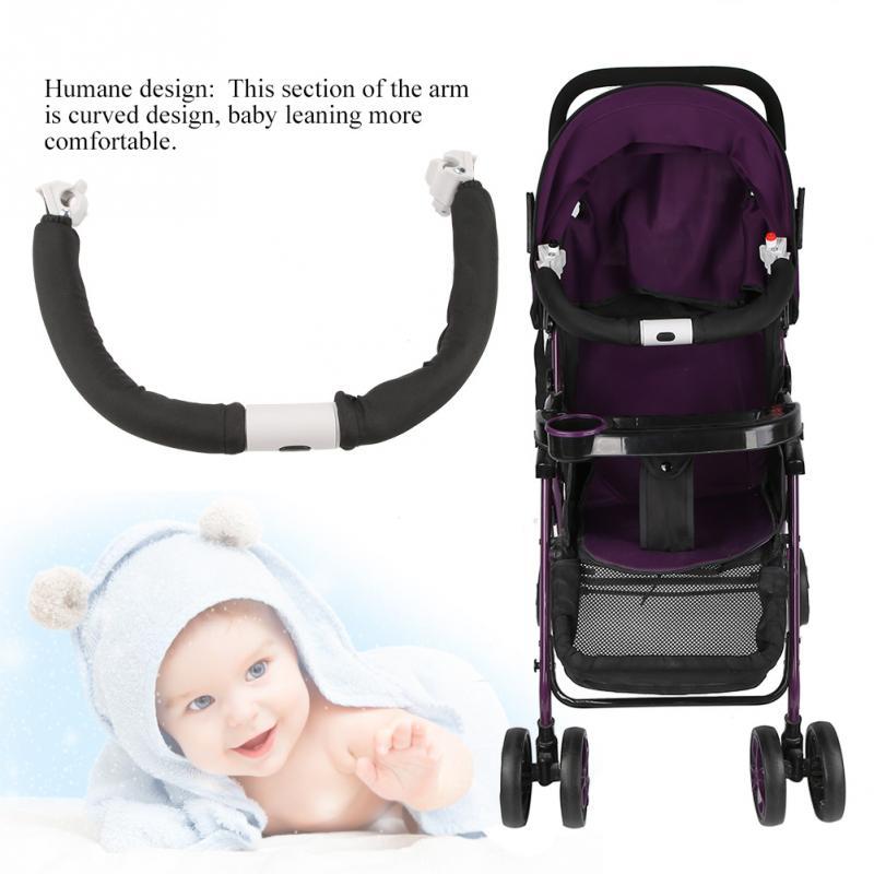 Adjustable Generic Baby Stroller Handle Handlebar Universal Armrest Bumper Bar For Baby Carriage Baby Stroller Pram Accessories