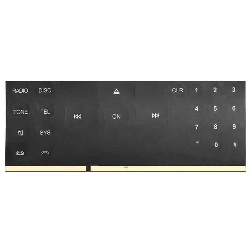 Radio numer przycisk naklejki naprawa naklejka zestaw papier dekoracyjny dla C/E/GLK/W klasa 2007-2014 mercedes-benz