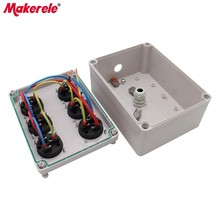 Household Waterproof Socket Junction Box 6 Holes Multifunctional Outdoor Rainproof Socket Box With Wire Connectors Cable Glands