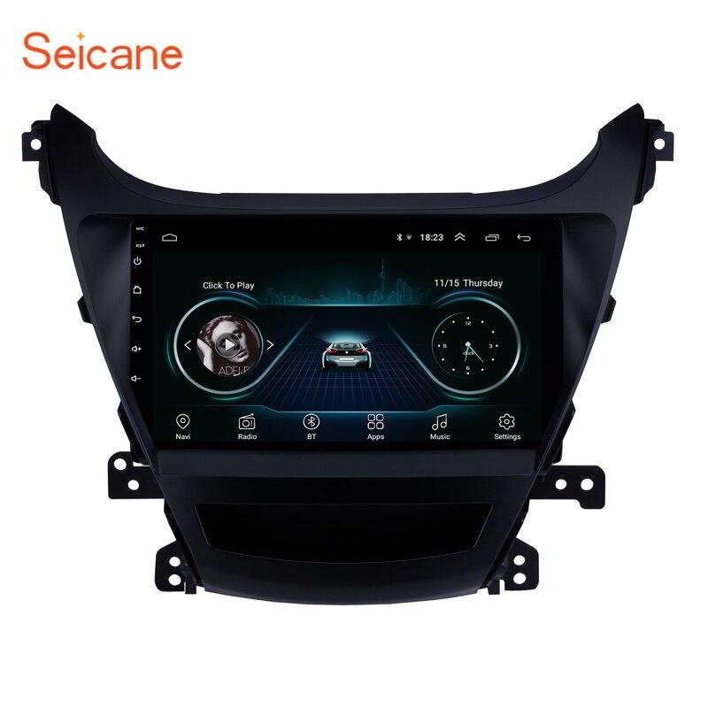 Seicane Car GPS Navi 9 HD Autoradio Android8 1 for Hyundai Elantra 2014 2015 Bluetooth Touchscreen