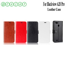 ocolor For Blackview A20 Pro Leather Case Cover Credit Card Holder Wallet Bag 5.5 inch For Blackview A20 Pro Phone Bags Fundas(China)