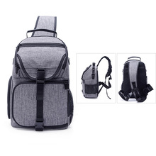лучшая цена Photo Camera Sling Bag Shoulder Cross Digital Case Waterproof W/ Rain Cover Dslr Soft Men Women Bag For Canon Nikon Sony DSLR