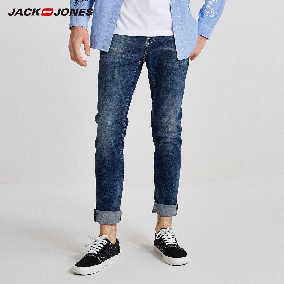 JackJones de invierno de los hombres se desvanece lavado vaqueros Slim negocios Casual clásico pantalones holgados pantalones de mezclilla   218332535  