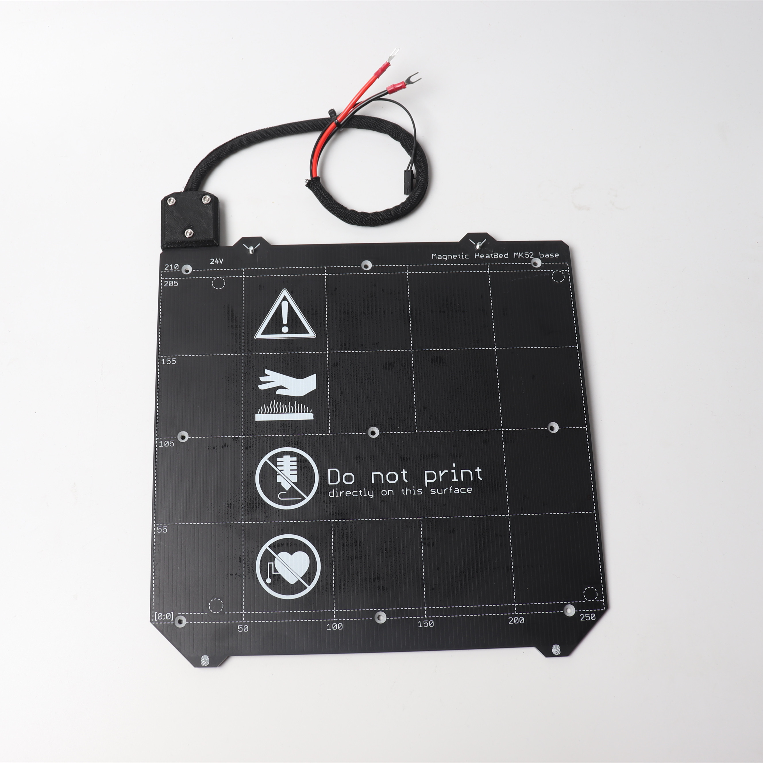Prusa I3 MK3/MK3S 3d Printer MK52 Heated Bed 24V Assembled, N35UH Magnets, Power Cable, Thermistor, Textile Sleeve