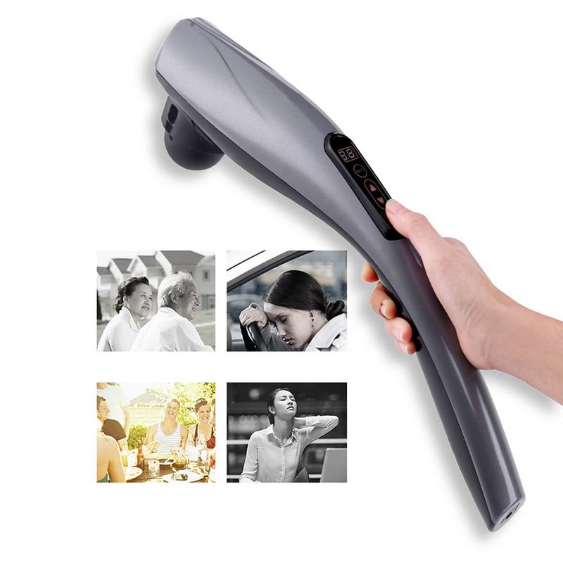 Massager Rod Charging Hand Held Neck Back Waist Shoulder Electric Multi Functional Body Vibration Percussion Massager