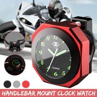 Universal Aluminum Alloy 3Color 7/8inch 1inch Motorcycle Luminous Handlebar Mount Clock Watch CNC Chrome Motorcycle Accessory|Clocks|Automobiles & Motorcycles -