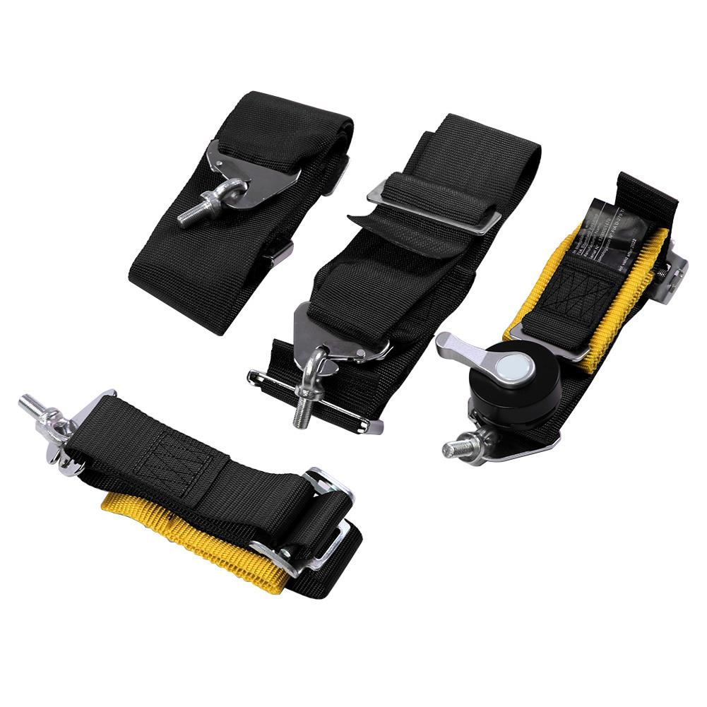 1 pièces harnais de course 4 points harnais de ceinture de sécurité de voiture avec serrure à came et sangle réglable valide 2022 avec logo 3 pouces