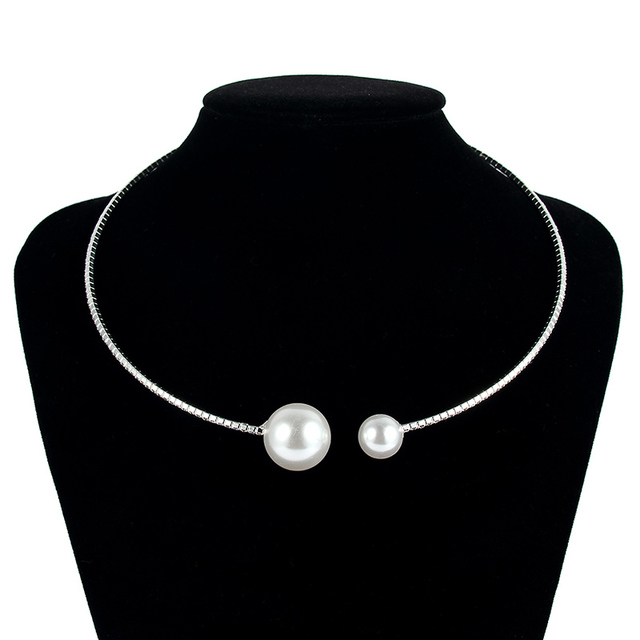 European Simulated Pearl Chokers  Necklace