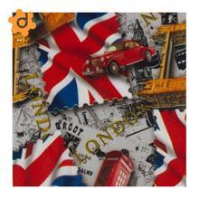 1 метр гидрографическая пленка-водная переводная печать-гидропогружение-Флаг Великобритании шаблон