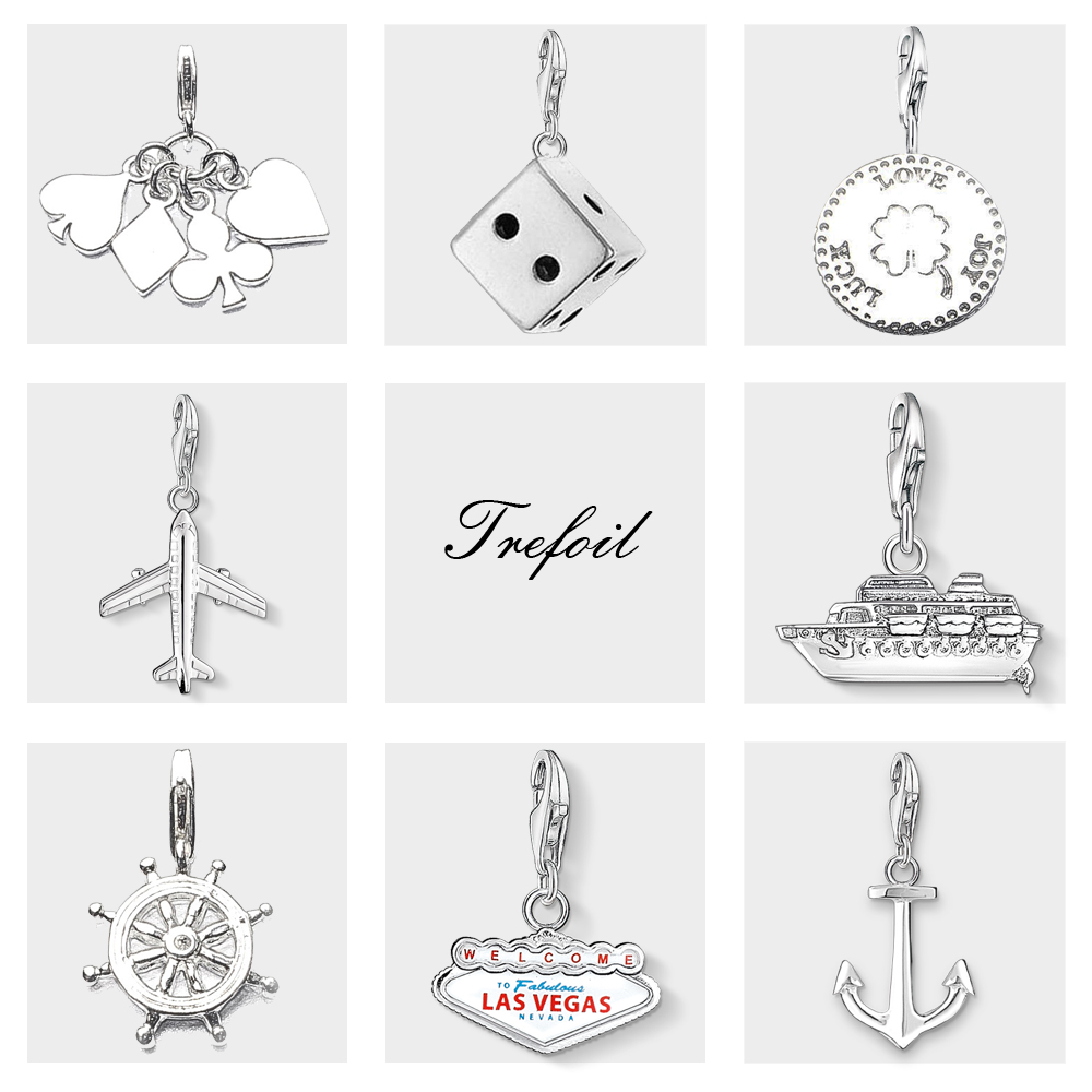 Lucky Dice Poker Rudder Anchor Ship Charm Pendant,Fashion Jewelry 925 Sterling Silver Classic Gift For Women Men Fit Bracelet