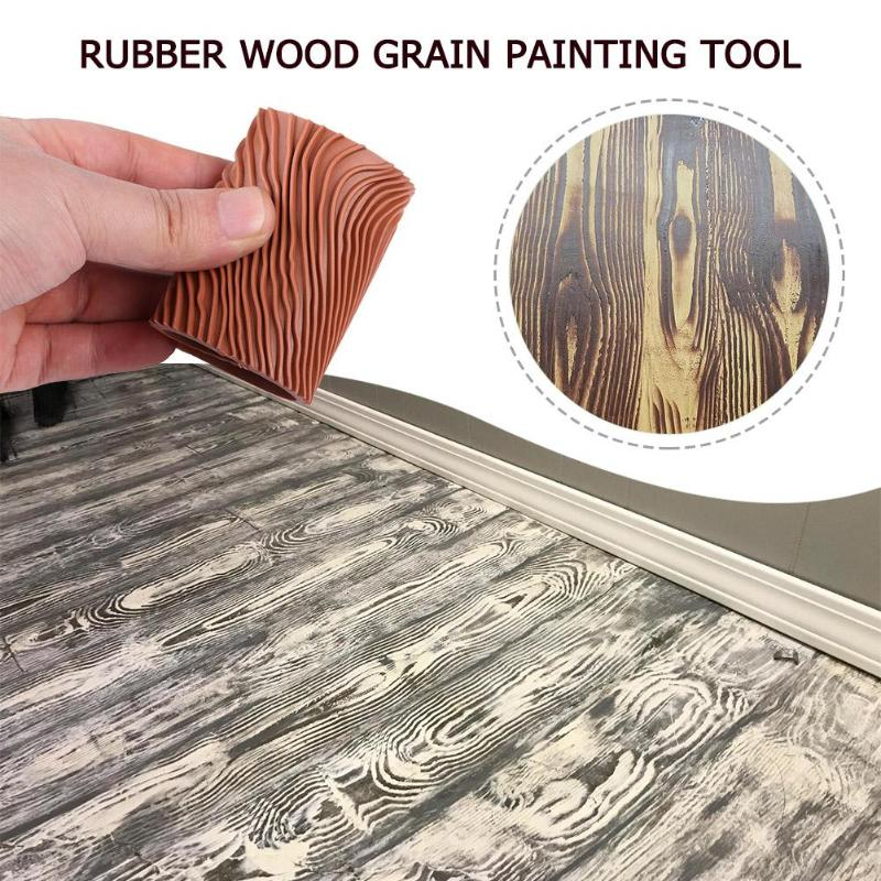 Rubber Wood Grain Painting Tool Imitation Wood Graining Pattern Wall Texture Art DIY Brush Painting Tool Home Decoration