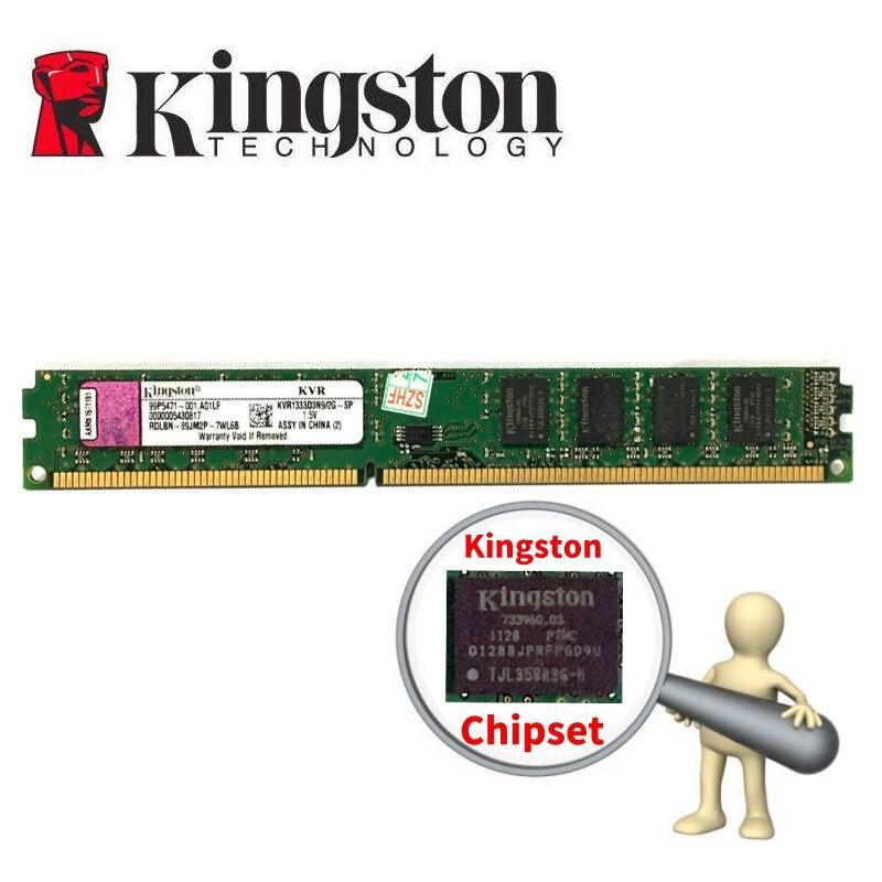 Kingston PC mémoire RAM Memoria Module ordinateur de bureau DDR3 2 GB 4 GB 8 gb PC3 1333 1600 MHZ 1333 MHZ 1600 MHZ 2G DDR2 800 MHZ 4G 8g