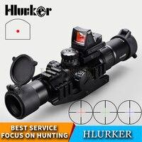 Hlurker Тактический 1,5-4x30 охотничий оптический прицел RMR Регулируемый Красный точечный прицел Зрительная труба для винтовки
