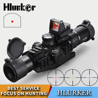 Hlurker Tactical 1.5 4x30 Hunting Optical Sight Rifle Scope Sight RMR Adjustable Red Dot Scope Spotting Scope For Rifle