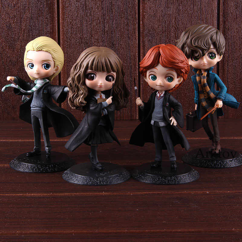 Personagem do Filme QPosket Bonito Hermione Granger Ron Weasley Newt Scamands Draco Malfoy Action Figure Toy Collectible