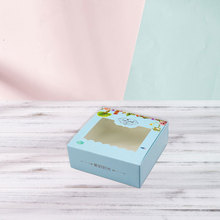 100 PCS Paper Gift Packaging Box Food Cookie Candy Wedding Party Favors Cake With Window Cardboard Present