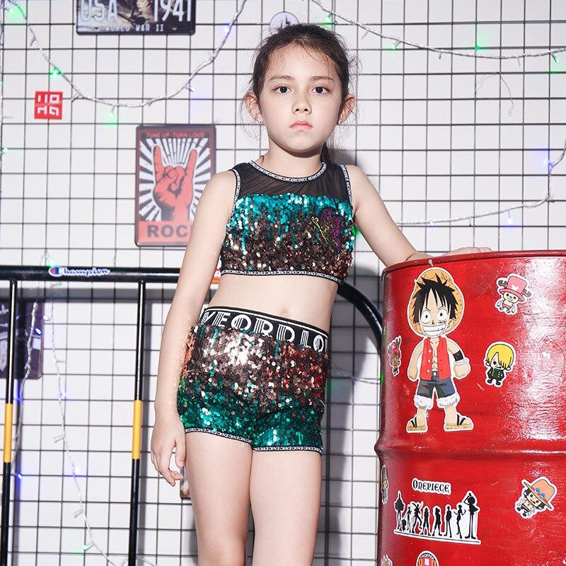 Dance Trajes Danza Girls Para Street Jazz De Hip Nuevos Hop Niños Traje Baile Lentejuelas vNmn0wO8
