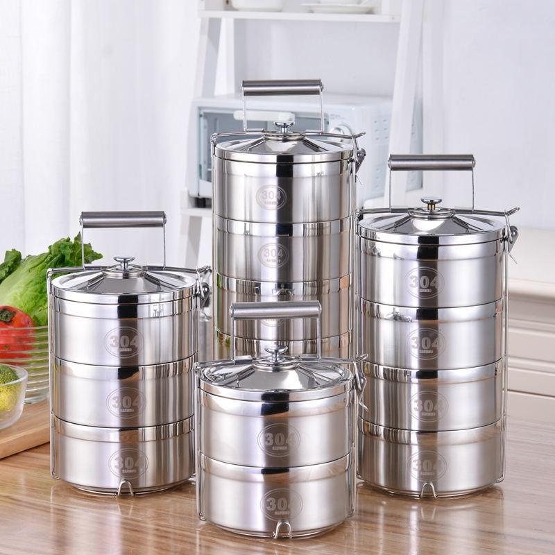 Thermos pour aliments 2 3 4 5 couches boîte déjeuner en acier inoxydable étanche récipient alimentaire boîte à Lunch conteneurs compartiments boîte à Bento