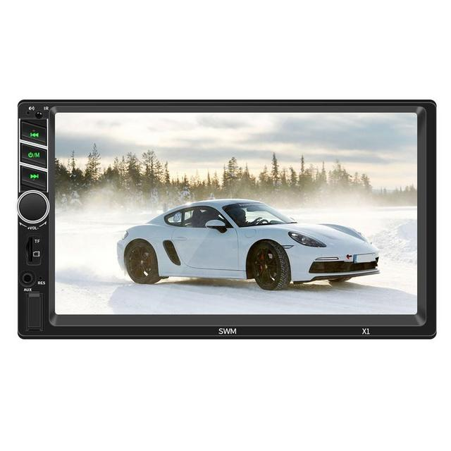 7inches 2 DIN MP5 Car Player Bluetooth Touch Screen Stereo Radio Camera Supports Android IOS System MirrorLink