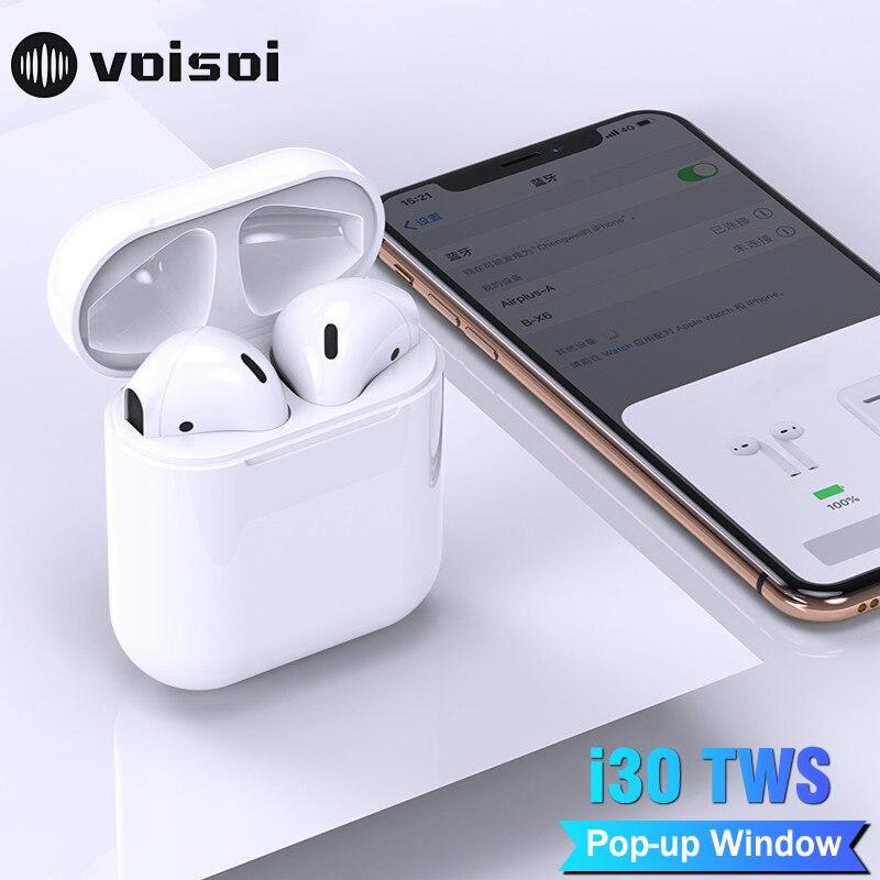 Fashion Style I30 Tws Pop Up Bluetooth Earphone Air Xy Wireless Earbuds Pk W1 Chip Lk Te9 Earphone 1:1 Size Pk I10 I20 I10tws I13 I14 I18 Tws Selling Well All Over The World
