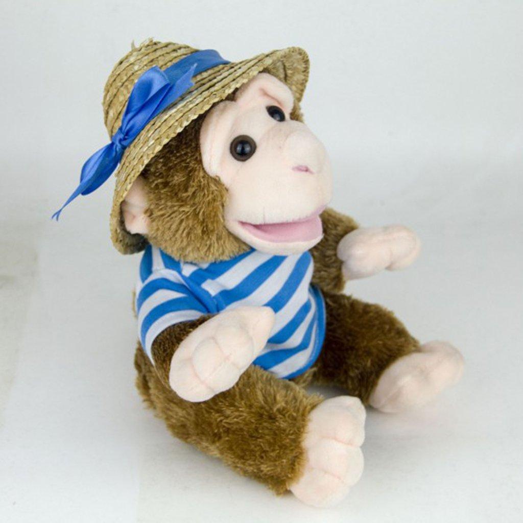 22cm Plush Monkey Doll Sing Swing Arm Home Decoration Educational Toys Birthday Gift for Baby Children Kids Toddler 2