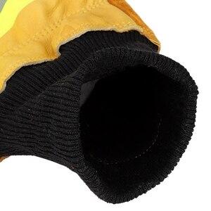 Image 5 - עבודה כפפות ריתוך כפפות אנטי קיטור בטיחות כפפות זוג של פרה עור כפפות חסין אש חום עמיד בטיחות כפפות עבודה