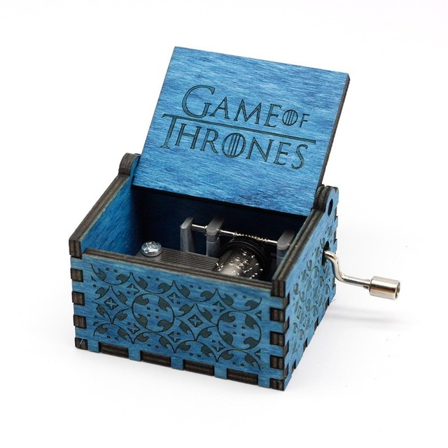 Antique Wood Game Of Thrones Music Box  1