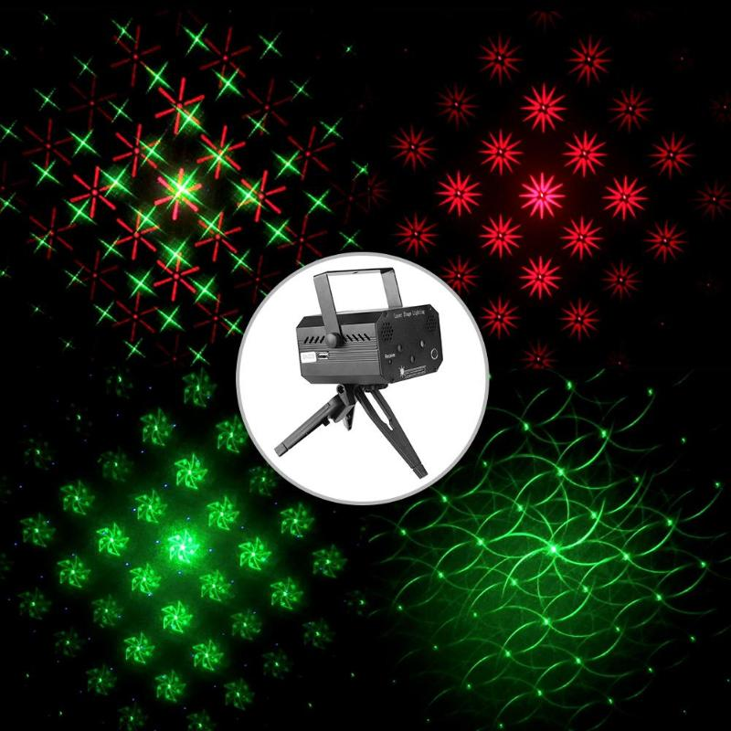 Mini Stage Light Projector Laser Sound Activated Stage Light DJ Disco KTV Party Club Lamp with Remote Control EU plug/US plugMini Stage Light Projector Laser Sound Activated Stage Light DJ Disco KTV Party Club Lamp with Remote Control EU plug/US plug