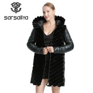 Image 3 - SARSALLYAธรรมชาติMink Coatแจ็คเก็ตผู้หญิงแจ็คเก็ตฤดูหนาวที่ถอดออกได้หนังขนสัตว์จริงผู้หญิงเสื้อผ้าเสื้อคลุมหญิง