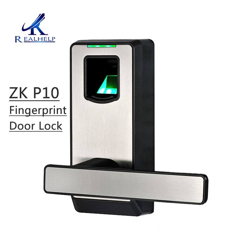 ZKTeco PL10 Free Shipping Fingerprint Door Lock Reversible Handle fechadura digital smart door lock cerradura serrure de porte