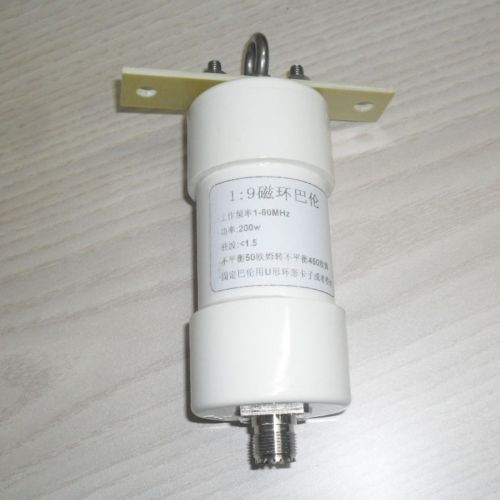 DYKB 1:9 Balun balun 200 W onda curta PRESUNTO HF Antena de Fio Longo RTL-SDR 1-56 MHz 50 ohm a 450 ohms NOX-150 magnético