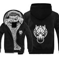 Game Final Fantasy jacket cartoon Cosplay Coat Hoodie Unisex Fleece Thicken Jacket Sweatshirts Clothing Sweatshirt Zipper Coat