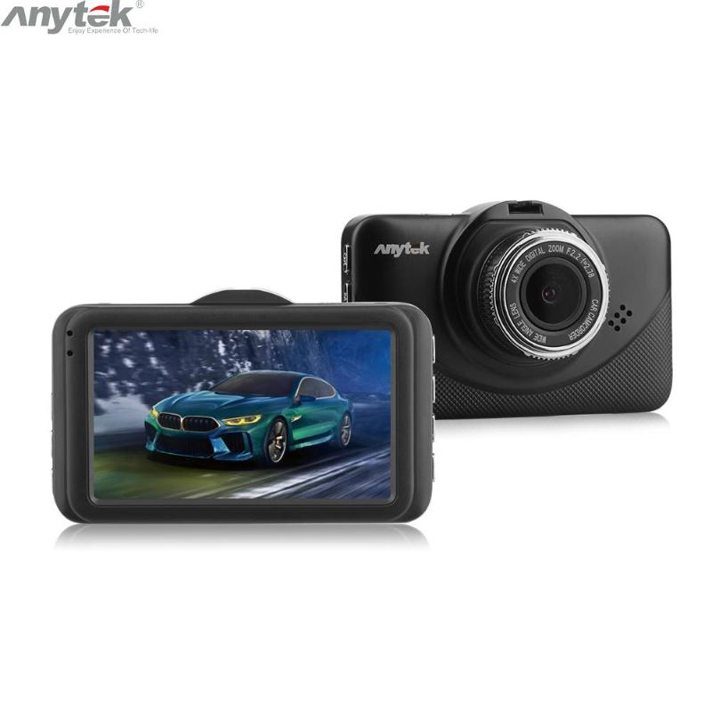 Anytek Originale X18 3.0 pollici Macchina Fotografica Dell'automobile DVR Full HD 1080 p Dual Lens Video Recorder Registrator Visione Notturna WDR g-sensor Dash Cam