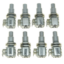 цены KAISH Guitar Bass Mini Dual Pots Stacked Concentric Potentiometer w/ Center Detent A50K/B50K/A100K/B100K/A250K/B250K/A500K/B500K