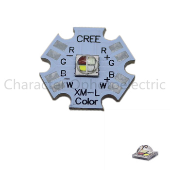 10pcs 10w Cree XLamp XM-L XML RGBW RGB White or RGB Warm White Color High Power LED Emitter 4-Chip 20mm Star PCB Board